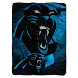 "Carolina Panthers ""Bevel"" Micro Raschel Throw"