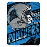 "Carolina Panthers ""Deep Slant"" Micro Raschel Throw"