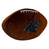 Carolina Panthers Football Shaped 3D Pillow