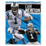 "Carolina Panthers NFL ""Cam Newton"" Players HD Silk Touch Throw"