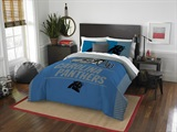 "Carolina Panthers NFL ""Draft"" Full/Queen Comforter Set"