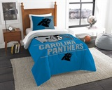 "Carolina Panthers NFL ""Draft"" Twin Comforter Set"