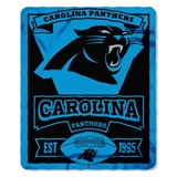 "Carolina Panthers NFL ""Marquee"" Fleece Throw"