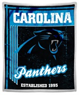"Carolina Panthers NFL ""Old School"" Mink Sherpa Throw"