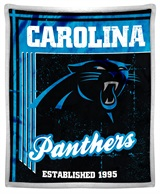 "Carolina Panthers ""Old School"" Mink with Sherpa Throw"
