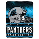 "Carolina Panthers ""Stacked"" Silk Touch Raschel Throw"