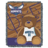 "Charlotte Hornets NBA ""Half-Court"" Baby Woven Jacquard Throw"