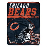 "Chicago Bears NFL ""40 yard Dash"" Micro Raschel Throw"