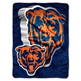 "Chicago Bears NFL ""Bevel"" Micro Raschel Throw"