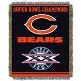 "Chicago Bears NFL ""Commemorative"" Woven Tapestry Throw"