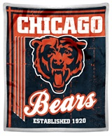 "Chicago Bears NFL ""Old School"" Mink with Sherpa Throw"