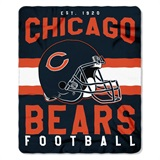 "Chicago Bears NFL ""Singular"" Fleece Throw"