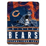 "Chicago Bears NFL ""Stacked"" Silk Touch Raschel Throw"