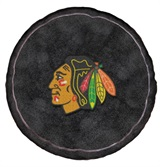Chicago Blackhawks NHL Hockey Puck Shaped 3D Pillow