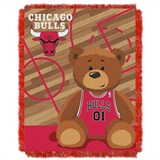"Chicago Bulls NBA ""Half-Court"" Baby Woven Jacquard Throw"