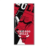 Chicago Bulls NBA Puzzle Oversized Beach Towe