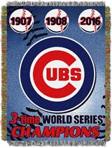 "Chicago Cubs MLB ""Commemorative Woven Tapestry Throw"