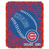 "Chicago Cubs MLB ""Double Play"" Woven Jacquard Throw"