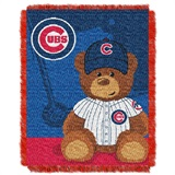 "Chicago Cubs MLB ""Field Bear"" Baby Woven Jacquard Throw"