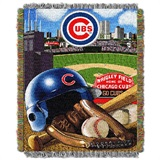 "Chicago Cubs MLB ""Home Field Advantage"" Woven Tapestry Throw"