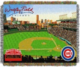 "Chicago Cubs MLB ""Wrigley Field"" Stadium Tapestry Throw"