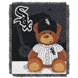 "Chicago White Sox MLB ""Field Bear"" Baby Woven Jacquard Throw"