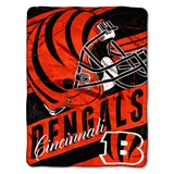 "Cincinnati Bengals NFL ""Deep Slant"" Micro Raschel Throw"