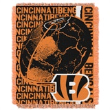 "Cincinnati Bengals NFL ""Double Play"" Woven Jacquard Throw"