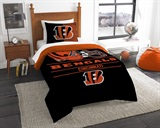 "Cincinnati Bengals NFL ""Draft"" Twin Comforter Set"