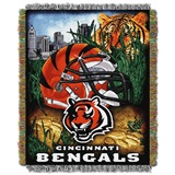 "Cincinnati Bengals NFL ""Home Field Advantage"" Woven Tapestry Throw"