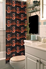 Cincinnati Bengals NFL Shower Curtain