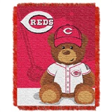 "Cincinnati Reds MLB ""Field Bear"" Baby Woven Jacquard Throw"
