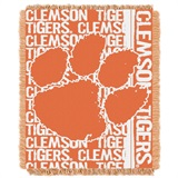 "Clemson ""Double Play"" Woven Jacquard Throw"