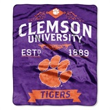 "Clemson ""Label"" Raschel Throw"