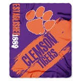 "Clemson ""Painted"" Fleece Throw"