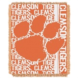"Clemson tigers NCAA ""Double Play"" Woven Jacquard Throw"
