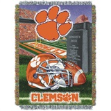 "Clemson Tigers NCAA ""Home Field Advantage"" Woven Tapestry Throw"