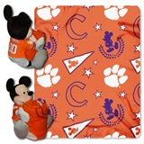 "Clemson Tigers NCAA ""Mickey"" Hugger and Fleece Throw"