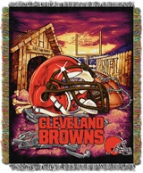"Cleveland Browns NFL ""Home Field Advantage"" Woven Tapestry Throw"