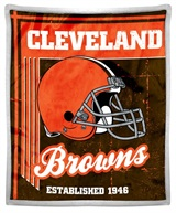 "Cleveland Browns NFL ""Old School"" Mink Sherpa Throw"