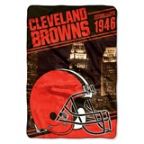 "Cleveland Browns NFL ""Stagger"" Micro Raschel Throw"