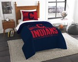 "Cleveland Indians MLB ""Grand Slam"" Twin Comforter Set"