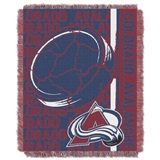 "Colorado Avalanche NHL ""Double Play"" Woven Jacquard Throw"