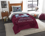 "Colorado Avalanche NHL ""Draft"" Twin Comforter Set"