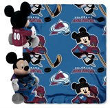 Colorado Avalanche NHL Mickey Hugger and Fleece Throw Set