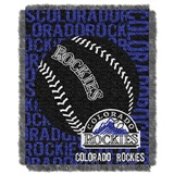 "Colorado Rockies MLB ""Double Play"" Woven Jacquard Throw"