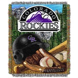 "Colorado Rockies MLB ""Home Field Advantage"" Woven Tapestry Throw"