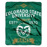 "Colorado State ""Label"" Raschel Throw"