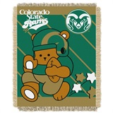 "Colorado State  Rams NCAA ""Fullback"" Baby Woven Jacquard Throw"