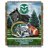 "Colorado State Rams NCAA ""Home Field Advantage"" Woven Tapestry Throw"